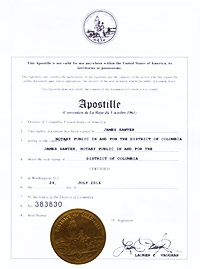 DC Apostille Certification