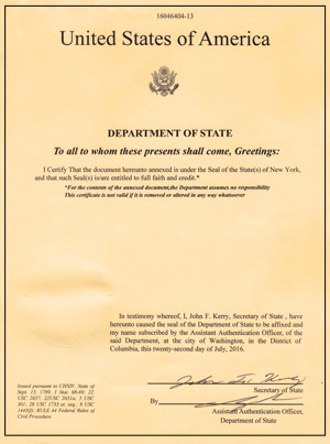 Us department of state apostille certification services - Us department of state office of authentication ...