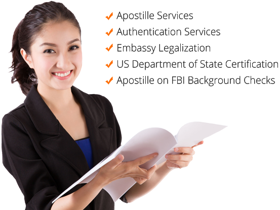 Document Apostille, Document Authentication, FBI Background Check, Embassy Legalization